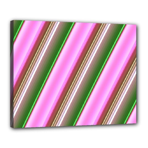 Pink And Green Abstract Pattern Background Canvas 20  x 16