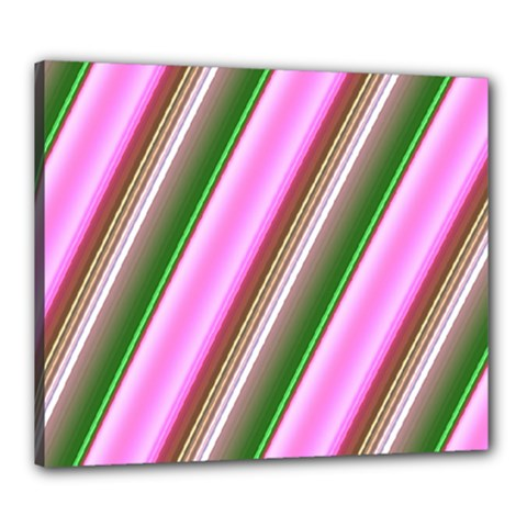 Pink And Green Abstract Pattern Background Canvas 24  x 20