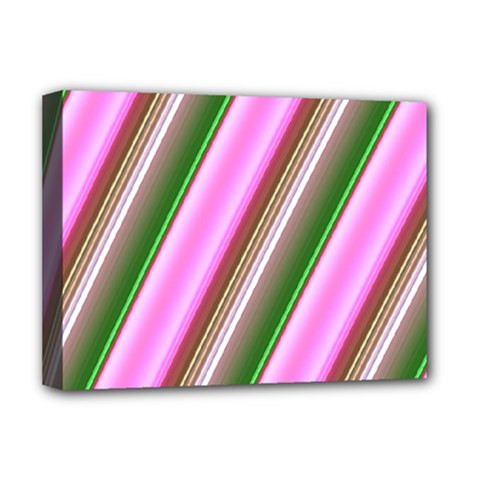 Pink And Green Abstract Pattern Background Deluxe Canvas 16  x 12