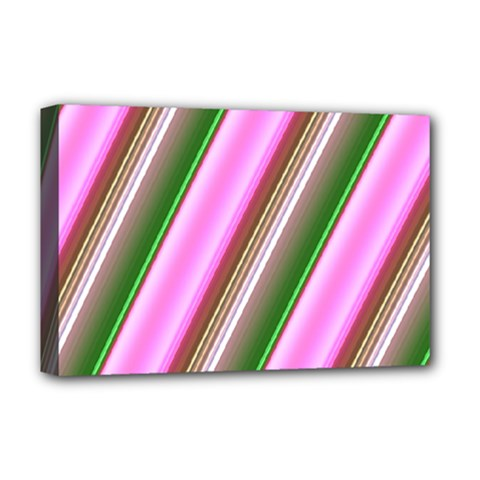 Pink And Green Abstract Pattern Background Deluxe Canvas 18  x 12