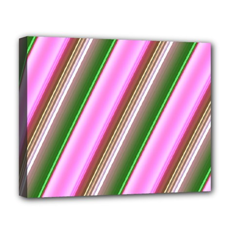Pink And Green Abstract Pattern Background Deluxe Canvas 20  x 16