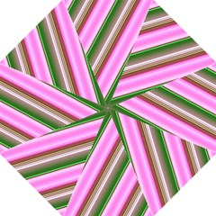 Pink And Green Abstract Pattern Background Hook Handle Umbrellas (Large)
