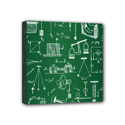Scientific Formulas Board Green Mini Canvas 4  x 4