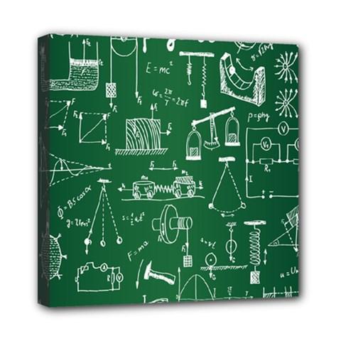Scientific Formulas Board Green Mini Canvas 8  x 8