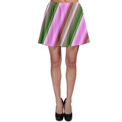 Pink And Green Abstract Pattern Background Skater Skirt