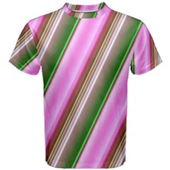 Pink And Green Abstract Pattern Background Men s Cotton Tee