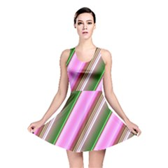 Pink And Green Abstract Pattern Background Reversible Skater Dress