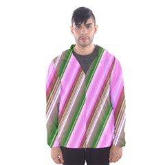 Pink And Green Abstract Pattern Background Hooded Wind Breaker (Men)