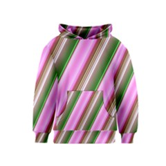 Pink And Green Abstract Pattern Background Kids  Pullover Hoodie