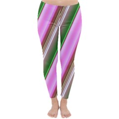 Pink And Green Abstract Pattern Background Classic Winter Leggings