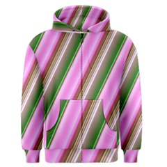 Pink And Green Abstract Pattern Background Men s Zipper Hoodie