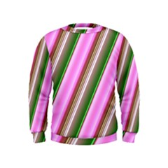 Pink And Green Abstract Pattern Background Kids  Sweatshirt