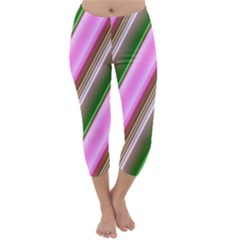 Pink And Green Abstract Pattern Background Capri Winter Leggings