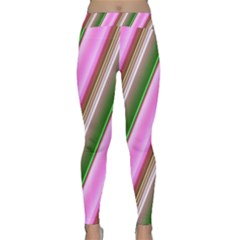 Pink And Green Abstract Pattern Background Classic Yoga Leggings