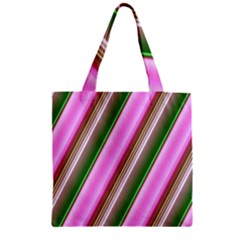 Pink And Green Abstract Pattern Background Zipper Grocery Tote Bag
