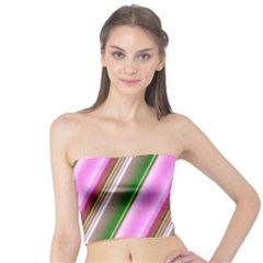 Pink And Green Abstract Pattern Background Tube Top