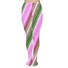 Pink And Green Abstract Pattern Background Women s Tights