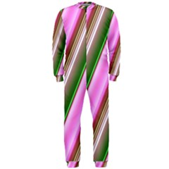 Pink And Green Abstract Pattern Background OnePiece Jumpsuit (Men)