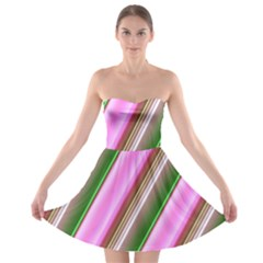 Pink And Green Abstract Pattern Background Strapless Bra Top Dress