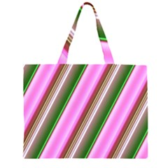Pink And Green Abstract Pattern Background Large Tote Bag