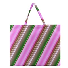Pink And Green Abstract Pattern Background Zipper Large Tote Bag