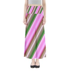 Pink And Green Abstract Pattern Background Maxi Skirts