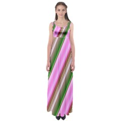 Pink And Green Abstract Pattern Background Empire Waist Maxi Dress
