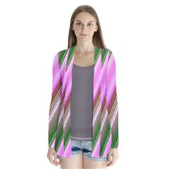 Pink And Green Abstract Pattern Background Cardigans