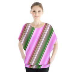 Pink And Green Abstract Pattern Background Blouse