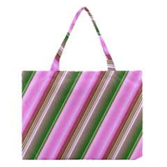 Pink And Green Abstract Pattern Background Medium Tote Bag