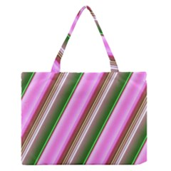 Pink And Green Abstract Pattern Background Medium Zipper Tote Bag