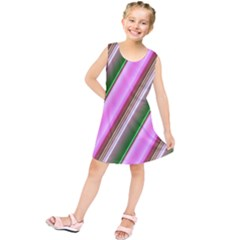Pink And Green Abstract Pattern Background Kids  Tunic Dress