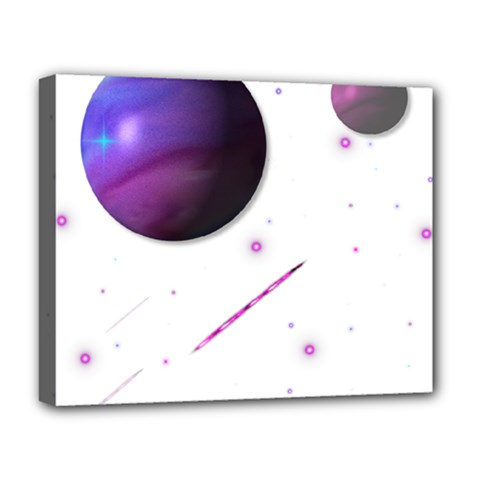 Space Transparent Purple Moon Star Deluxe Canvas 20  x 16
