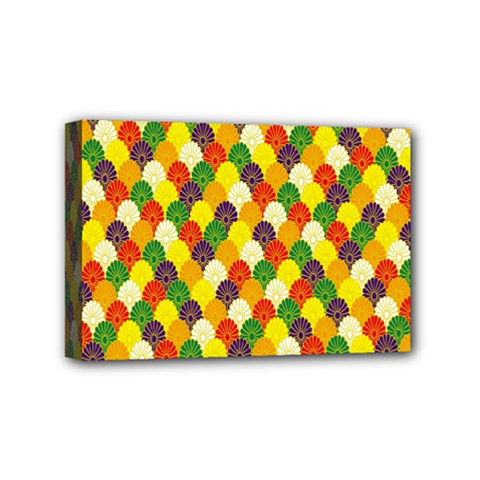 Flower Floral Sunflower Color Rainbow Yellow Purple Red Green Mini Canvas 6  x 4