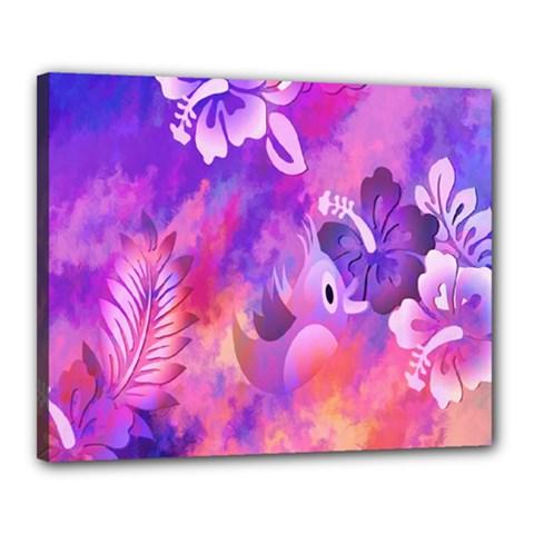 Littie Birdie Abstract Design Artwork Canvas 20  x 16
