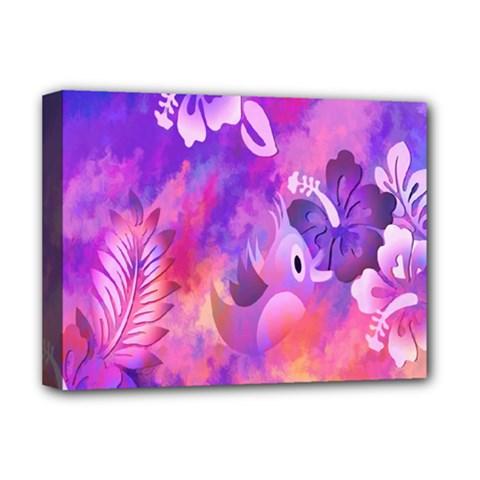 Littie Birdie Abstract Design Artwork Deluxe Canvas 16  x 12