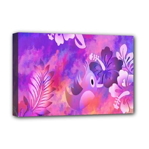 Littie Birdie Abstract Design Artwork Deluxe Canvas 18  x 12