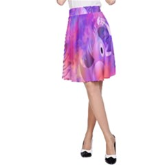 Littie Birdie Abstract Design Artwork A-Line Skirt