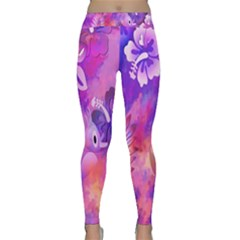 Littie Birdie Abstract Design Artwork Classic Yoga Leggings
