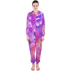 Littie Birdie Abstract Design Artwork Hooded Jumpsuit (Ladies)