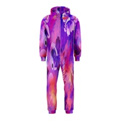 Littie Birdie Abstract Design Artwork Hooded Jumpsuit (Kids)