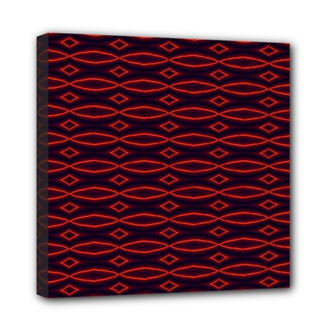 Repeated Tapestry Pattern Abstract Repetition Mini Canvas 8  x 8
