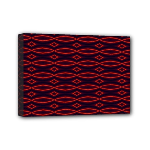 Repeated Tapestry Pattern Abstract Repetition Mini Canvas 7  X 5