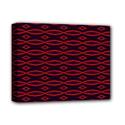 Repeated Tapestry Pattern Abstract Repetition Deluxe Canvas 14  X 11