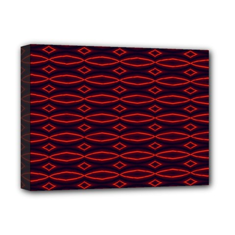 Repeated Tapestry Pattern Abstract Repetition Deluxe Canvas 16  x 12