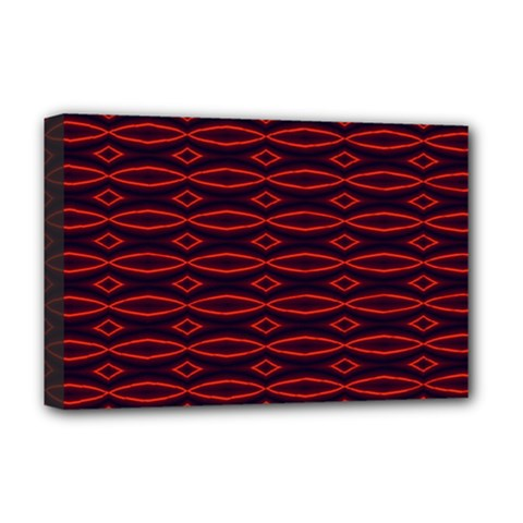 Repeated Tapestry Pattern Abstract Repetition Deluxe Canvas 18  x 12