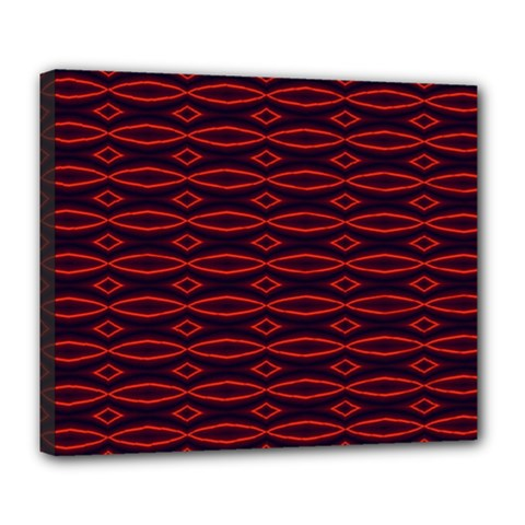 Repeated Tapestry Pattern Abstract Repetition Deluxe Canvas 24  X 20