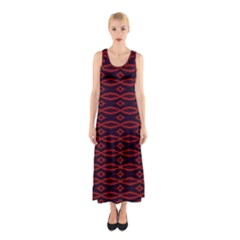 Repeated Tapestry Pattern Abstract Repetition Sleeveless Maxi Dress