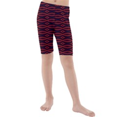 Repeated Tapestry Pattern Abstract Repetition Kids  Mid Length Swim Shorts