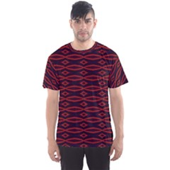Repeated Tapestry Pattern Abstract Repetition Men s Sport Mesh Tee